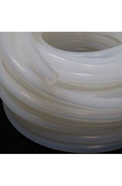 7x11mm PLATINUM CURED SILICONE TUBING - TRANSLUCENT 60° SHORE