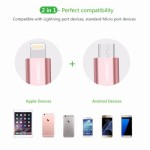 UGREEN Lightning and Micro USB Cable, 2 in 1 USB Charging Cable