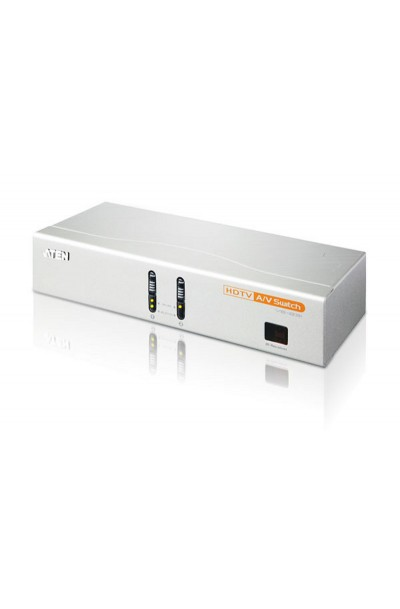ATEN 2-Port HDTV A/V Switch with IR Remote