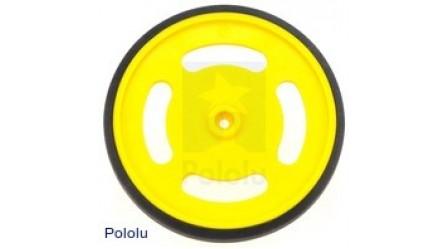 "2-5/8"" plastic Yellow wheel Futaba servo hub"