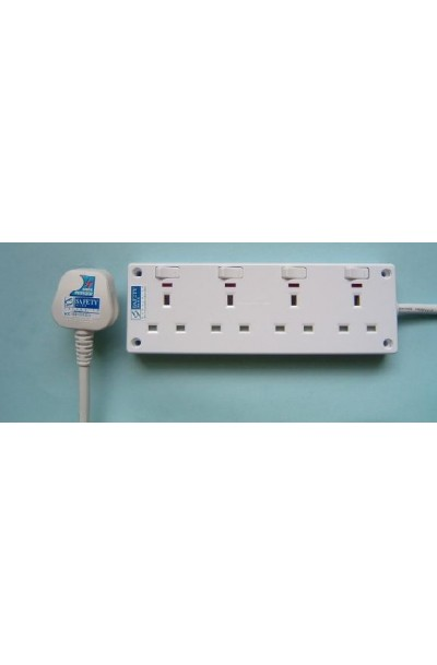 NCE 4-WAY POWER SOCKET WITH NEON (NCE4406N)