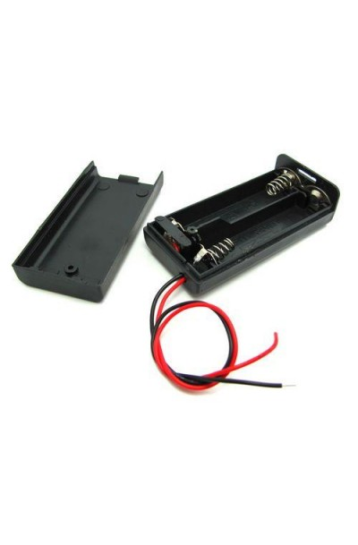 Battery Holder 2 X AA With Cover and Switch