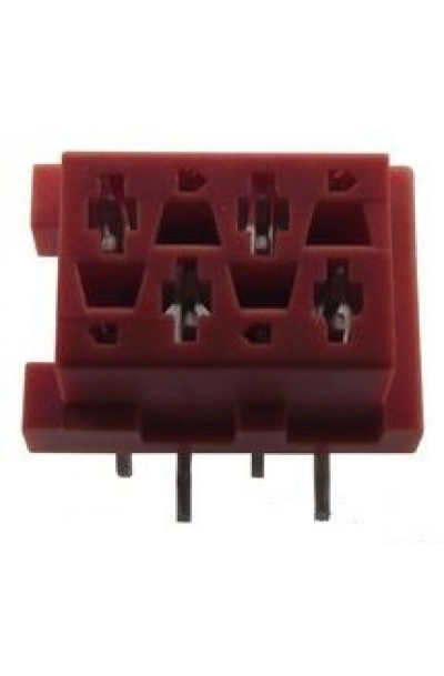 Board-To-Board Connector, 1.27 mm, 4 Contacts, Receptacle, Micro-Match Series, Surface Mount (5PCS/PKT)