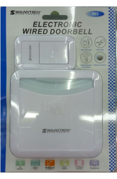 SOUNDTECH ELECTRONIC WIRED DOORBELL